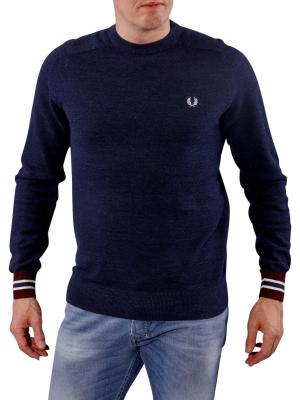 Fred Perry Textured Yarn CN vintage navy marl