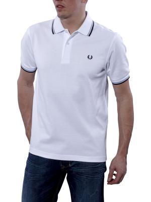 Fred Perry Polo Piqué white/navy