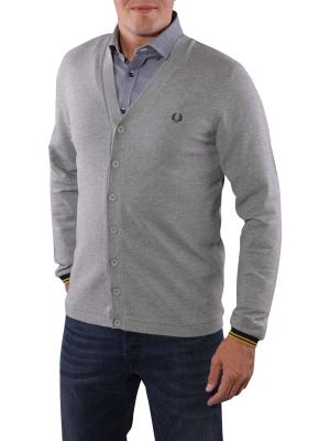 Fred Perry Piqué Cardigan steel marl