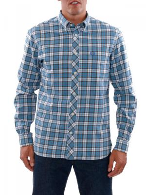 Fred Perry Brushed Culloden Tartan Shirt white