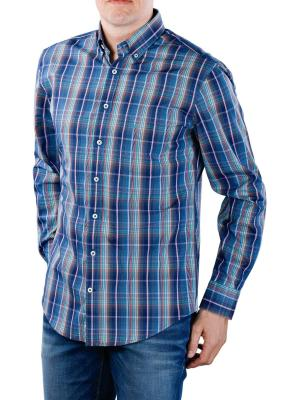 Fynch-Hatton Multicolour Story Shirt navy fond check