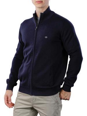 Fynch-Hatton Cardigan-Zip Sweater navy