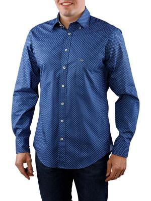 Fynch-Hatton Blue White Summer Story Shirt navy check