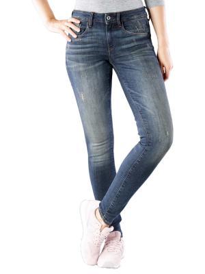 G-Star 3301 Mid Skinny Jeans deconst dk aged antic destroy