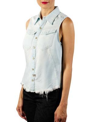 G-Star Tacoma Slim Shirt 6oz Denim sun faded arctic
