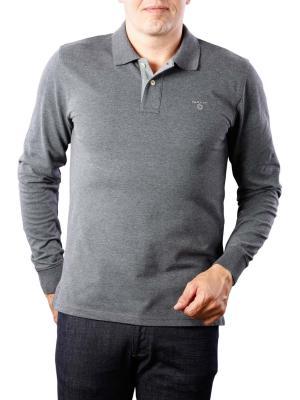 Gant Contrast Collar Pique LS antracit melange
