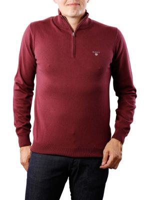 Gant Cotton Wool Zip dark burgundy melange
