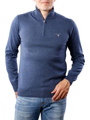 Gant Cotton Wool Zip dark jeansblue melange