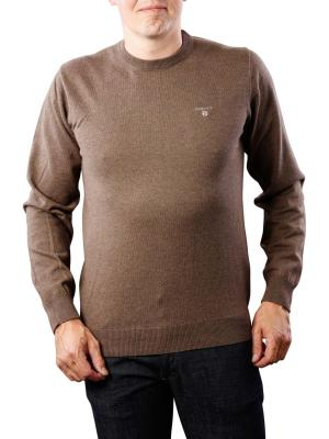 Gant Cotton Wool Crew brown melange