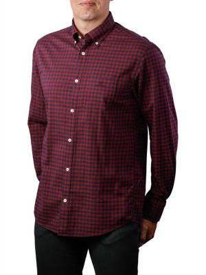 Gant D1 Winter TWI Buffalo Check Reg BD Shirt port red