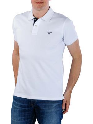 Gant Contrast Collar Pique SS Rugger white