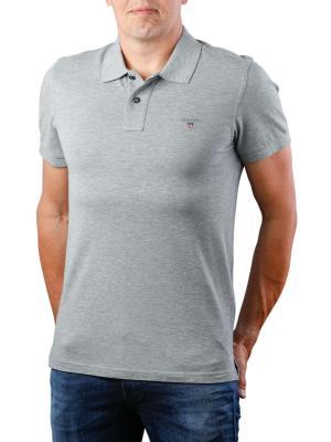 Gant The Original Pique SS Rugger Polo Shirt grey melange