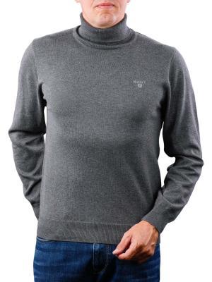 Gant Light Weight Cotton Trutle Neck charcoal melange