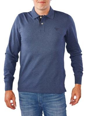 Gant Contrast Collar Pique Rugger marine melange