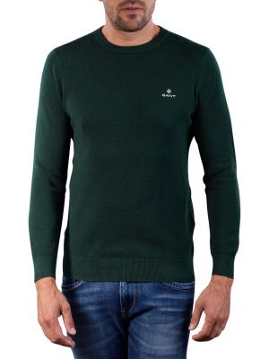 Gant Cotton Pique C-Neck tartan green