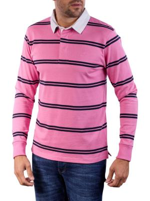 Gant D1 Double Stripe Heavy Rugger Polo wild rose