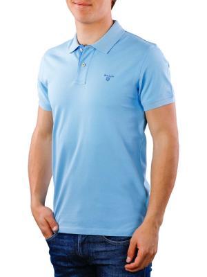 Gant Contrast Collar Pique SS Rugger toy blue