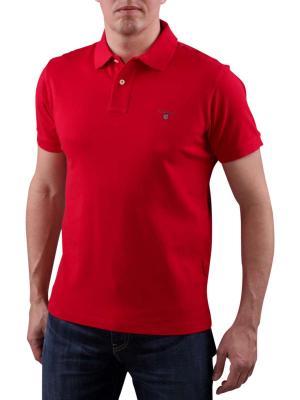 Gant Solid Piqué SS Rugger red