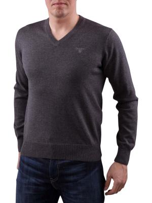 Gant Light Weight Cotton V-Neck antracite