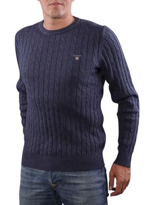Gant Cotton Cable Crew dark indigo blue