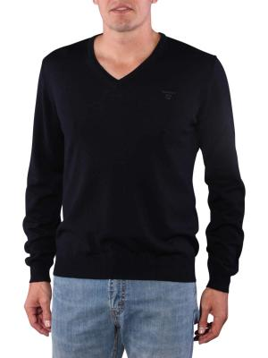 Gant Solid Merinowool Sweater navy