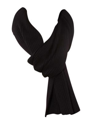 Gant Cotton Rib Knit Scarf black