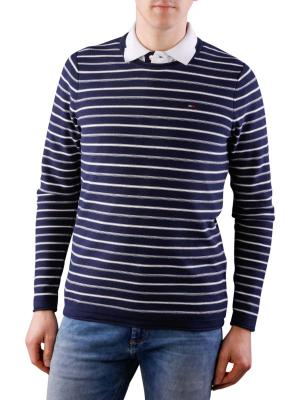 Tommy Jeans Basic Cotton Sweater iris/marshmallow