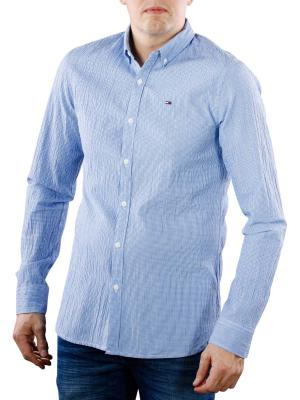 Tommy Jeans Essential Seersucker Shirt nautical blue