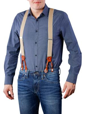 Henry Suspenders beige/cognac by BASIC BELTS