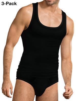 Jockey 3-Pack Premium Cotton Stretch A-Shirt black
