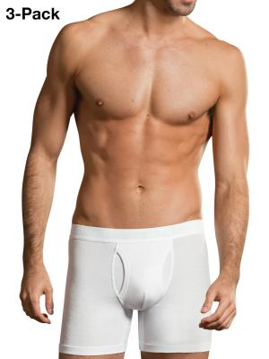 Jockey 3-Pack Premium Cotton Stretch Boxer Trunk Fly white