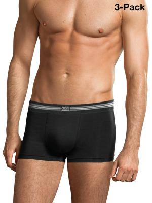 Jockey 3-Pack Cotton Stretch Short Trunk black