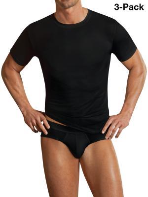Jockey 3-Pack Microfiber T-Shirt black