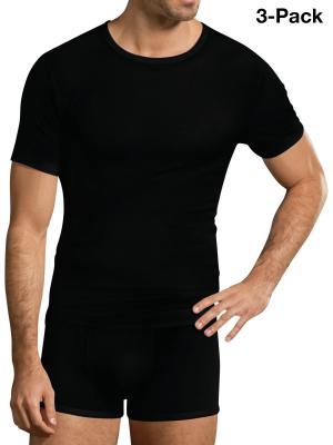 Jockey 3-Pack Premium Cotton Stretch T-Shirt black