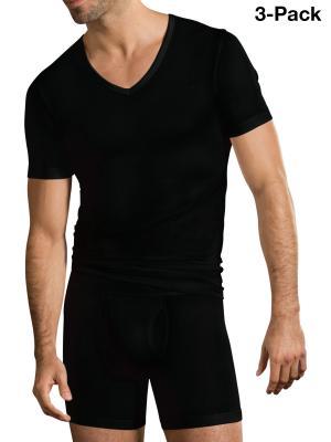 Jockey 3-Pack Premium Cotton Stretch V-Neck black