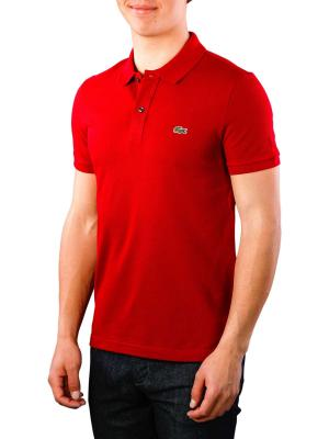 Lacoste Polo Shirt Slim Short Sleeves bordeaux