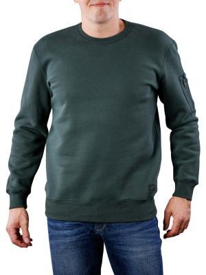 Lee Sleeve Pocket Crews spruce green