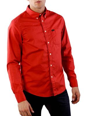 Lee Button Down Shirt faded red
