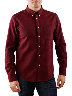 Lee Button Down Shirt maroon port