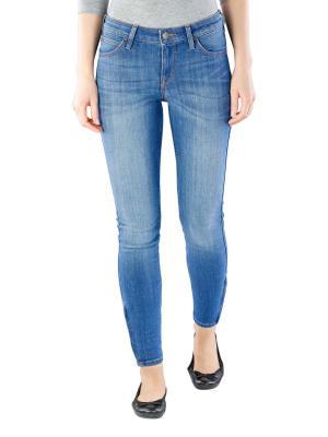 Lee Scarlett Cropped Stretch Jeans high blue