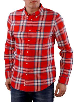 Lee Button Down Shirt lava red