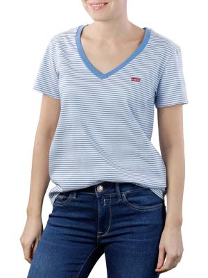Levi's Perfect VNeck T-Shirt annalise stripe marina
