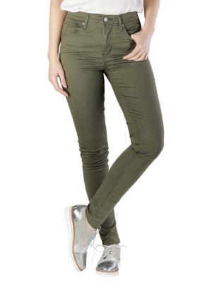 Levi's 721 High Rise Skinny Jeans hypersoft t2 olive night