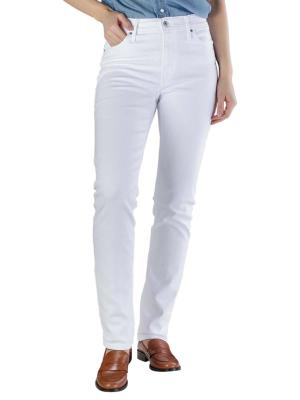 Levi's 724 High Rise Straight Jeans western white