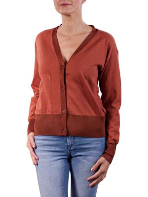 Maison Scotch Classic Cardigan Pullover copper melange