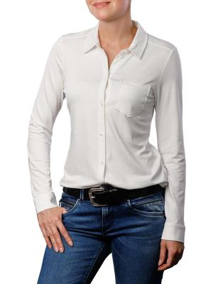 Marc O'Polo Jersey Blouse Collar soft white