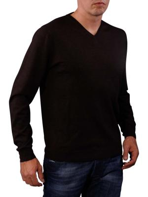 Fynch-Hatton V-Neck Smart Sweater brown