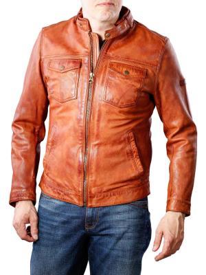 Pepe Jeans Shelton Jacket Lamb Leather cognac