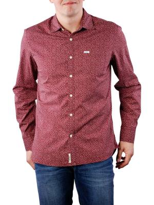 Pepe Jeans Padstow Stretch Shirt Poplin bordeaux