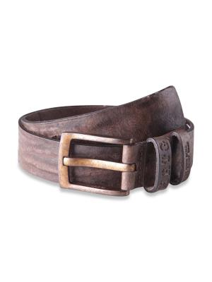 Pepe Jeans Balton Beaten Leather Belt dark brown
